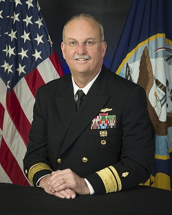 Official image of Vice Admiral C. Forrest Faison III, Surgeon General of the Navy