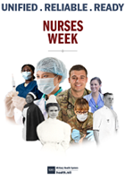 Image for National Nurses Week.  Unified. Reliable. Ready.