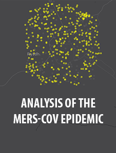 Analysis of the MERS-CoV Epidemic Interactive Map. The Middle East Respiratory Syndrome Coronavirus (MERS-CoV) is a respiratory disease caused by a novel coronavirus. MERS-CoV is fatal in roughly one third of reported cases. It circulates predominately in the Arabian Peninsula, which is an active military theater. This MERS-CoV analysis and interactive product features infographics, time animations, interactive maps and an in-depth analysis of clusters of MERS-CoV.  The interactive tool is available to offer a better understanding of the MERS-CoV epidemic.