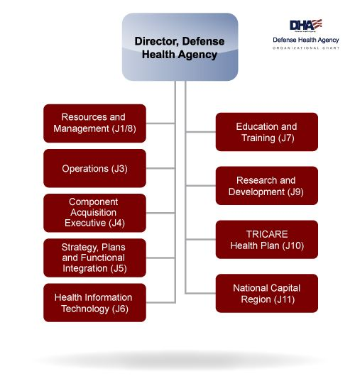 Defense health agency health organizational chart for the defense health agency that shows the hierarchy of the the directorates altavistaventures Gallery