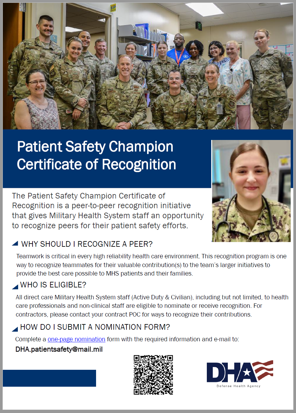 Patient Safety Champion Certificate of Recognition Flyer cover image