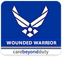 Image Block with Logo for U.S. Air Force Wounded Warrior Program; Care Beyond Duty