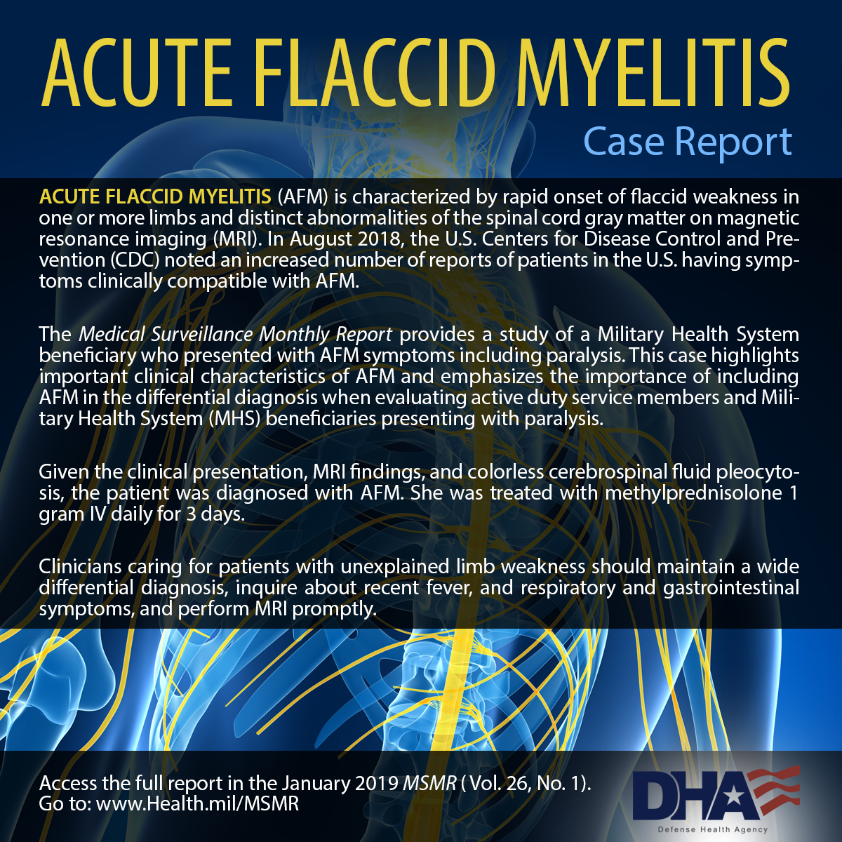 Acute Flaccid Myelitis Case Reporting
