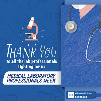 Social media graphic for Medical Laboratory Professionals Week