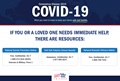COVID helpline graphic