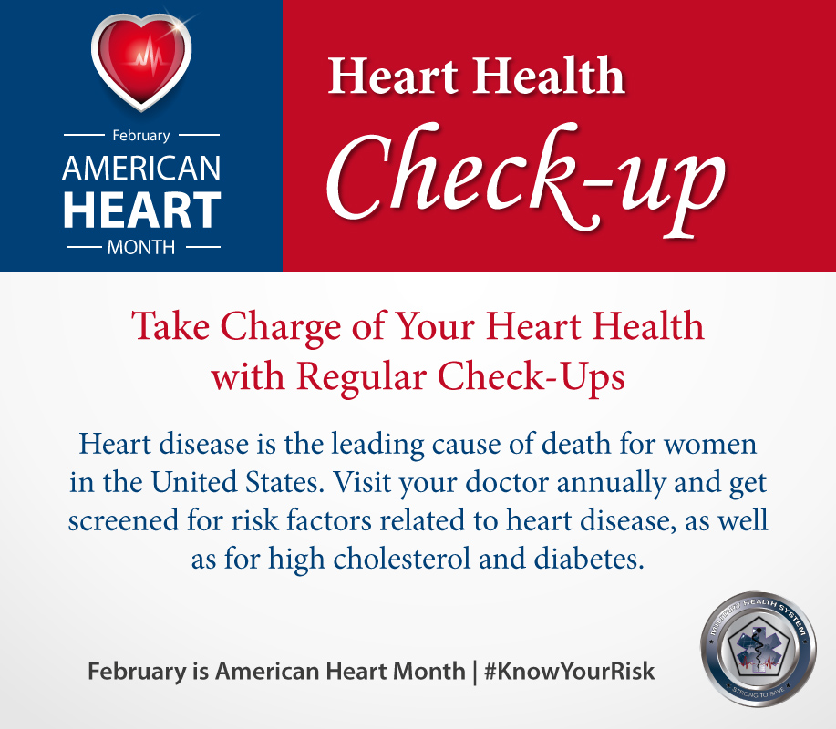 Infographic for Heart Health Month about Regular Checkups