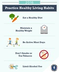 Infographic listing 5 key healthy habits for the new year