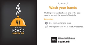 Infographic: Holiday Food Safety Tip - Wash Your Hands