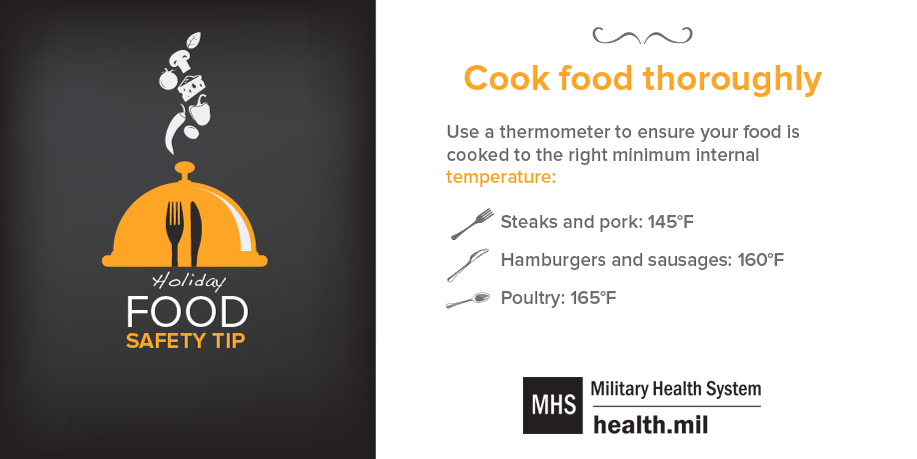 Infographic: Holiday Food Safety Tip #3, Cook Food Thoroughly