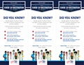 An insert with links to learn more about vaccination options. Options include MTFs, state health departments, and local retail pharmacy. Graphics include medical personnel wearing masks on the bottom as well as the TRICARE logo.