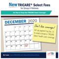 This graphic shows a calendar with the date December 31 circled to remind TRICARE Group A retirees to take action and set up their TRICARE Select enrollment fee payment.