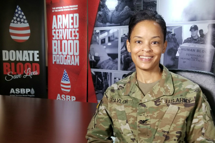 The Armed Services Blood Program welcomed new Division Chief Army Col. Audra L. Taylor to the military's blood program . (Courtesy photo)