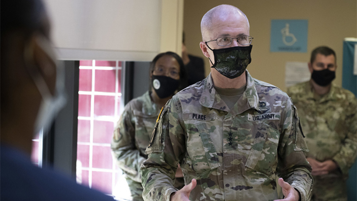 Army Lt. Gen. Ronald Place visits Travis Air Force Base