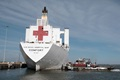The hospital ship USNS Comfort returns to its homeport after treating patients in New York and New Jersey in support of the COVID-19 pandemic. (U.S. Navy photo by Mass Communication Specialist 1st Class Joshua D. Sheppard/Releaseds)