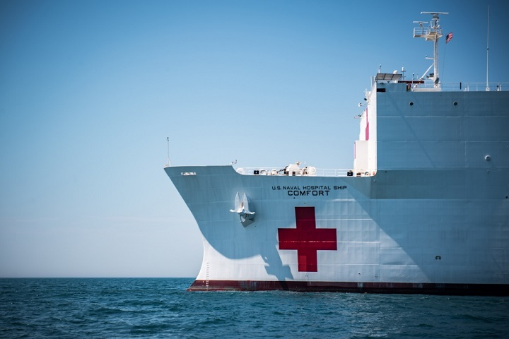 The U.S. Navy hospital ship USNS Comfort is scheduled to depart Naval Station Norfolk, Virginia, en route to South America and Central America where it will conduct an 11-week medical assistance mission working closely with host-nation health and government partners in Ecuador, Peru, Colombia, and Honduras. This mission marks the sixth time the hospital ship will provide medical assistance in the region and reflects the United States' enduring promise of friendship, partnership, and solidarity with the Americas. (U.S. Navy file photo)