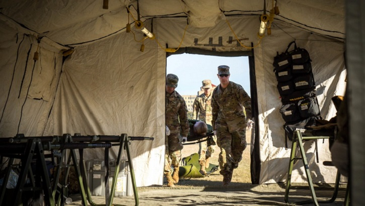 When a medical device breaks down on a medical unit deployed to a remote part of the world, the closest repair parts could be thousands of miles away (U.S. Army photo by Francis S. Trachta)