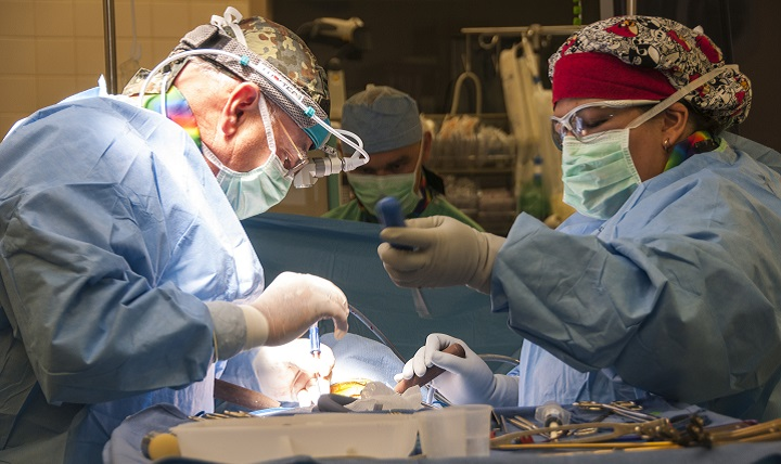 Inside Carl R. Darnall Army Medical Center's second floor surgery suite, surgeons and medical teams are busy honing their critical-care skills. Regardless of procedure or patient, every incision is an exercise in mission readiness. (U.S. Army photo by Marcy Sanchez)