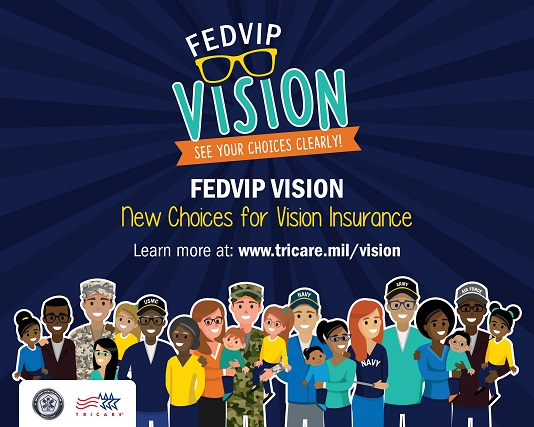 Screensaver with characters and text about FEDVIP Vision