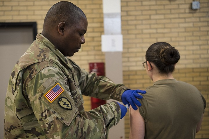 Vaccination is the primary method for preventing influenza and its complications and getting an annual influenza vaccine is the best way to protect yourself and your family from the flu. (U.S. Army photo by Staff Sgt. Erica Knight)