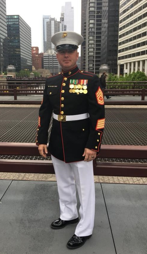 Marine Gunnery Sgt. Gavin Whitehead has been smoke-free for seven months with the help of counseling and medication. (Courtesy photo)