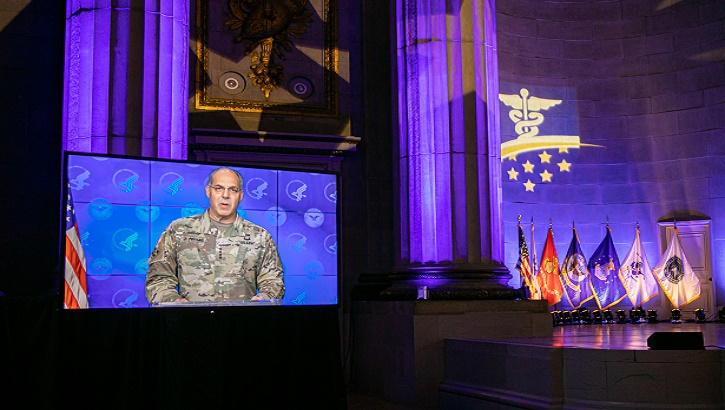 "Photo of the virtual ""Heroes of Military Medicine"" award ceremony"