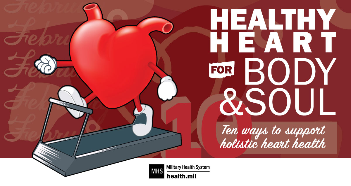 Opens larger image for 10 ways to support holistic heart health