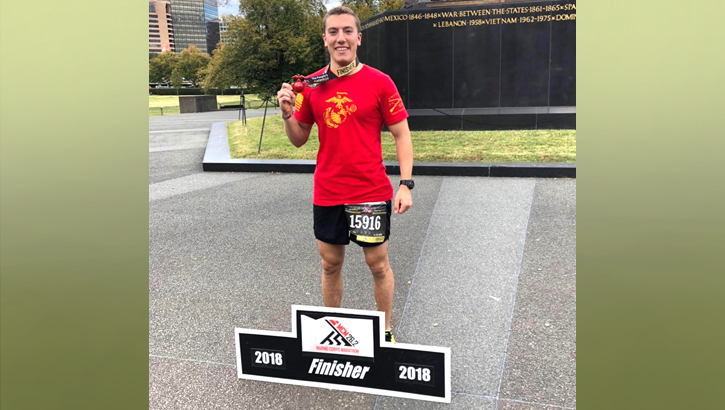 Navy Ensign Ted Johnson completed the Marine Corps Marathon while following a ketogenic diet, but now he's back on carbs. (Courtesy photo)