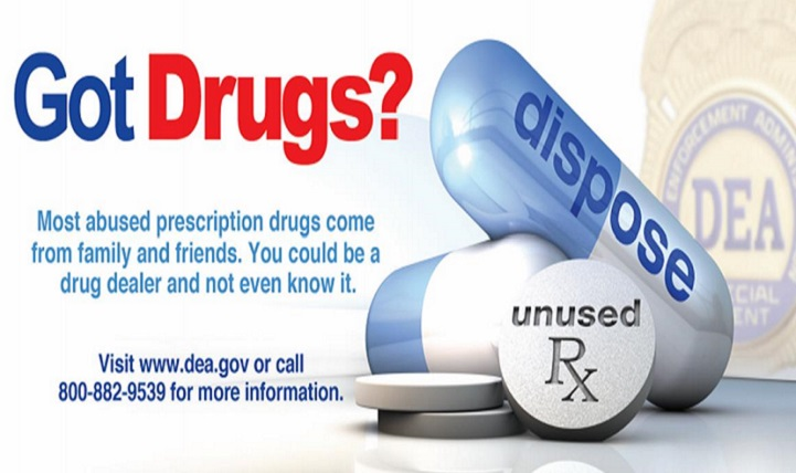 The Drug Enforcement Agency sponsors the National Prescription Drug Take Back Day, which lets people safely and securely dispose of potentially dangerous unused, unwanted and expired prescription drugs. (Courtesy graphic)