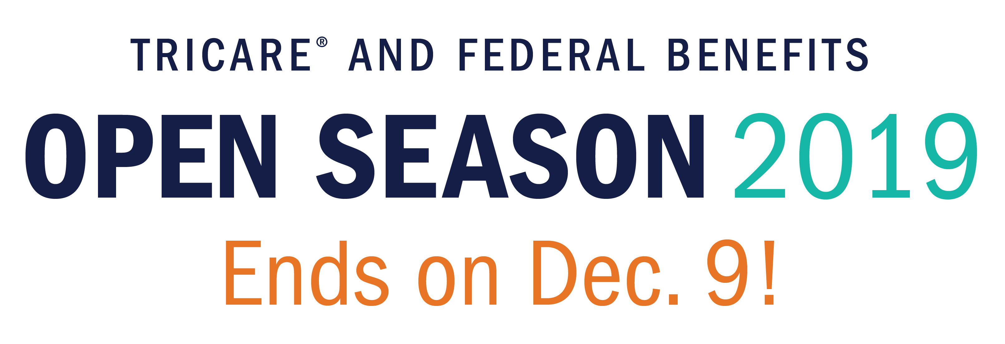 This logo is a reminder that Open Season is Nov 11 to Dec 9, 2019