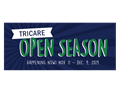 Logo saying that TRICARE Open Season is happening now