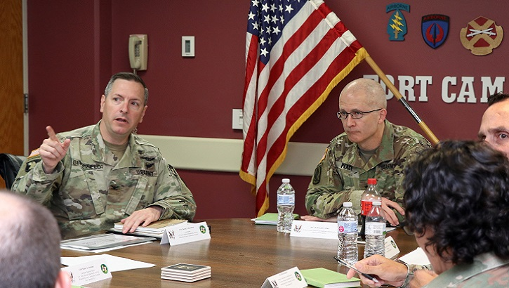 Army Maj. Gen. Ron Place, who was recently confirmed for promotion to lieutenant general and selected to serve as the next director of DHA, visited Blanchfield Army Community Hospital and Fort Campbell, Kentucky, Aug. 7 for more discussion about the hospital's transition to DHA Oct. 1. (U.S. Army photo)