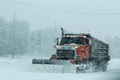A heavy-equipment operator with the Fort McCoy snow removal, drives a plow truck to move snow. Winter can be a hazardous time of year. Frigid temperatures and slick roads can be dangerous. (U.S. Army photo by Scott T. Sturkol)
