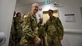 Lt. Gen. Ronald Place, Director, Defense Health Agency, visits with the staff of the Stuttgart Army Health Clinic in Germany.  Since becoming DHA Director, Lt. Gen. Place has focused on creating great outcomes for the beneficiaries who rely on the Military Health System for their health care.