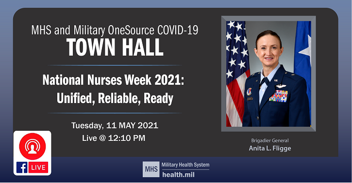 Links to Join Us!!  Fifth Live Town Hall with Brig. Gen. Anita Fligge