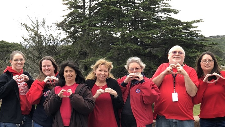 National Wear Red Day helps raise awareness of heart disease, heart attacks, and strokes. Join us for National Wear Red Day, Friday, Feb. 7. Wear red, snap a photo with your family and friends, and share it on social media using the hashtag #WearRedDay. (MHS photo)