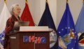 Dr. Karen Guice, acting assistant secretary of Defense for Health Affairs, addressed attendees on the second day of the 2016 Defense Centers of Excellence for Psychological Health and Traumatic Brain Injury (TBI) Summit Sept. 14, 2016.
