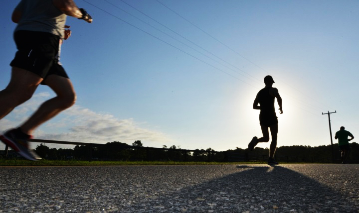 Runners participate in the Mulberry Island Half Marathon at Joint Base Langley-Eustis, Virginia, in September 2016. (U.S. Air Force photo by Staff Sgt. Natasha Stannard)