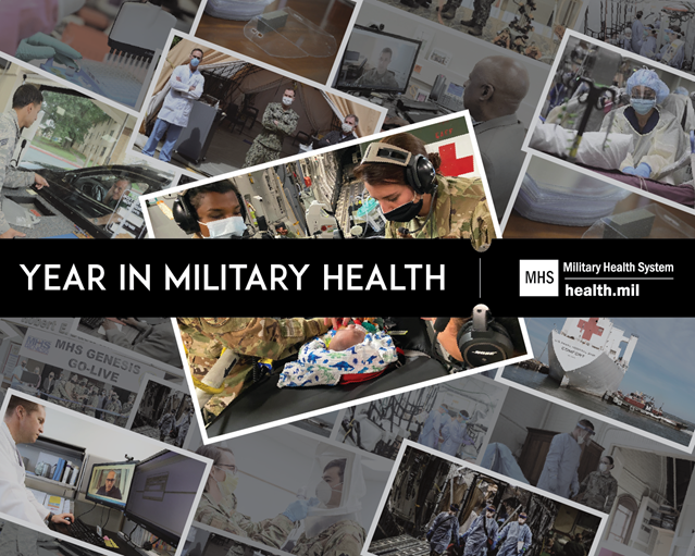 Collage of Year in Military Health 2020 images