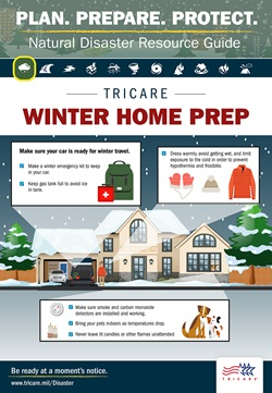 Make sure your car is ready for winter travel during a winter emergency, dress warmly to avoid hypothermia and frostbite, make sure smoke and carbon monoxide detectors are installed and working correctly, bring your pets indoors, and never leave a lit candle unattended.