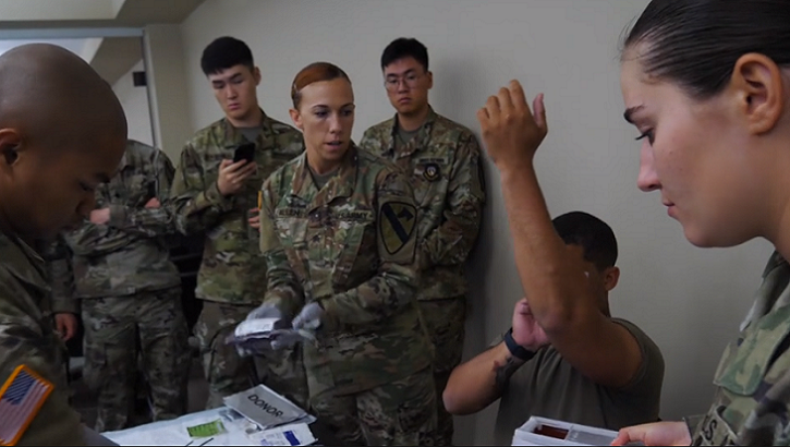 The medics of 2nd Battalion, 7th Cavalry Regiment, 3rd Armored Brigade Combat Team, 1st Cavalry Division are learning a life-saving measure that was first used in the Korean War 69 years ago -- whole blood transfusion on the battlefield.