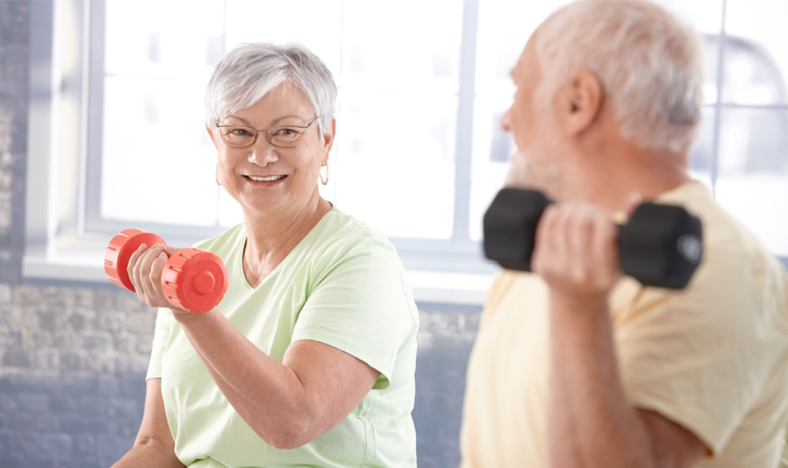 Getting regular exercise correlates to better cognitive and physical function in older adults.
