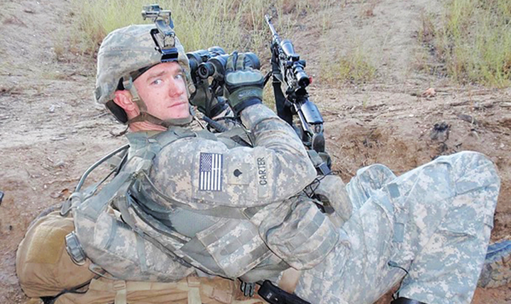 Ty Carter courageously fought the enemy on the battlefield and received the Medal of Honor for his gallantry. Now he has a new fight: erasing shame from those seeking help after a tragedy. (Courtesy photo)
