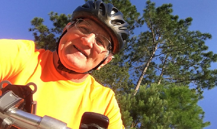 Retired Army Maj. Bill Gleason's active lifestyle in Savannah, Georgia, includes cycling and sharing full-time day care duties with his wife for three grandchildren ages 8, 6, and 4. (Courtesy photo)