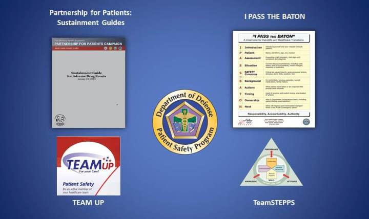 The June edition of the DoD PSP Treasure Chest highlights TEAM UP, I PASS THE BATON, TeamSTEPPS® and the Partnership for Patients (PfP) Sustainment Guides.